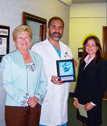 Dr. Valle is honored by Goal Coast Magazine